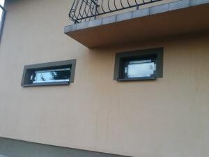 Okna Veka Softline 82 kolor jednostronny ciemny dąb