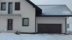 Brama Garażowa Wiśniwski unitherm kolor orzech
