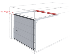 brama segmentowa z podwójnymi prowadnicami poziomymi
