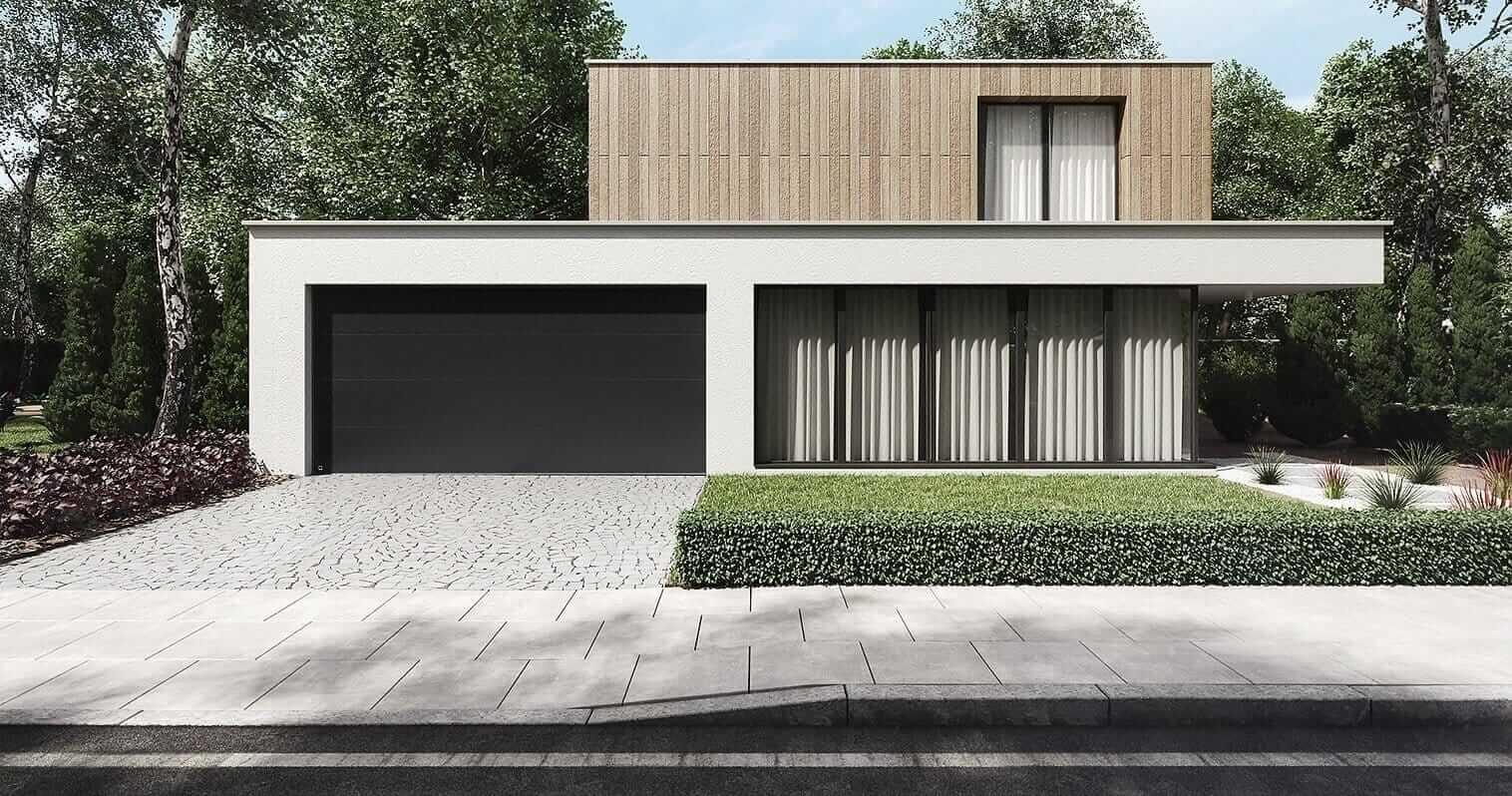 nowoczesny dom z dużymi oknami